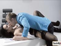 Sheri gets a quickie and cum from boss