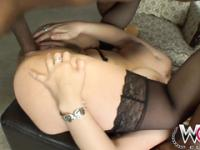 Juicy booty blonde slut gets pounded