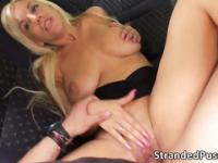 Alluring hot chick Blondie gets pounded by a big cock in the secondary lounge