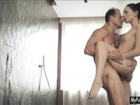 Nataly gets morning sex in the shower