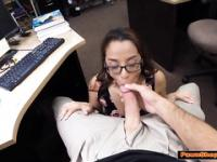 College babe learns a lesson from a cock
