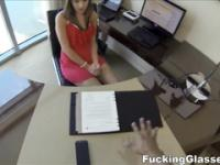 Lunch break secretary fuck