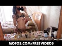 Skinny tattooed punk girl makes an amateur sex tape in her room
