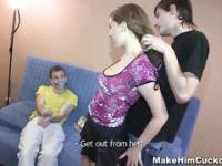 Dumb cheater punished in a kinky way