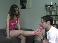 Goddess's Footboy  Guy Asks Jogger If He Can Smell Her Feet