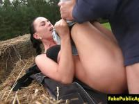 Engañó a eurobabe outdoorfucked falso agente