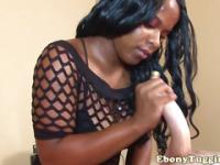 Homemade chubby ebony amateurs handjob fun