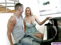 Dude boning his girlfriend and a big tits MILF piano teacher