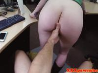 Pawnshop amateur riding reversecowgirl for deal