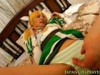 Japanese cosplay hairy pussy fingered