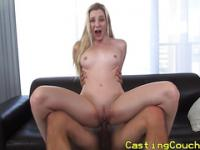 Casting couch x babe gets a messy facial