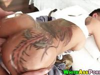 Horny tattooed ho Bella Bellz analyzed