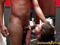 Real ho sucks black cock