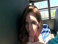 Maddy O Reilly takes dick in public bus