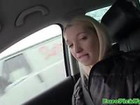 Real picked up blonde giving tugjob
