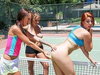 Lovely Horny tennis players on a sex session