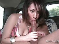 Cute amateur showing dick sucking serotics in bus
