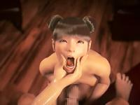 Asian 3d girl sucks