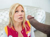 Teen blonde Scarlet Red had a fetish for huge cock