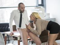 Horny hot secretary Kyra Hot gets wild fuck at the office with Pablo