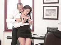 Super hot Valentina Nappi gets banged in the office by her boss huge cock