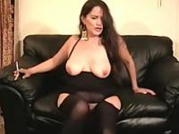 sexy milf smoking