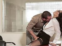 Horny secretary Alex gets her pussy pounded with huge cock at the office