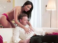 Horny Anissa kate gets her pussy pounded by her boyfriends massive cock