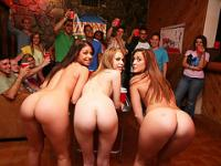 erotic pong party with smoking hot coeds