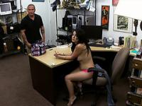Latina Cuban girl gets fucked for some cash in the shop