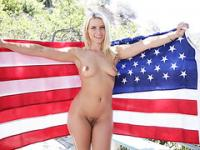 Completely naked Anikka Albrite encounters rough sex