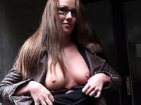 Sexy European teacher nailed for money