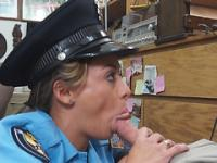 A lady police officer's fat ass and tight pussy
