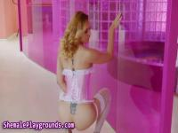Analized tgirl soaked