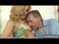Huge boobs tranny Gianna Rivera anal fucked with hard dicks