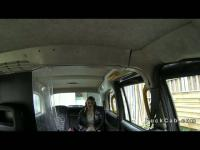 Babe in pantyhose anal banged in fake taxi