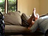 Cheating Housewife Eaten Out On Sofa Caught On Spy Cam