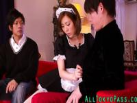 Amateur asian maid rammed
