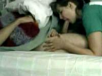 Teen gf blowing her shy boyfriend