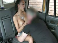 Lucky driver bangs his damn super hot and big tits customer