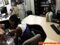 Ebony amateur fucks on film to pay her rent