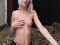 Blowjob facial for blonde czech girl