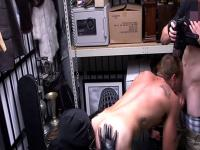 Real pawnbrokers enjoy oral foreplay