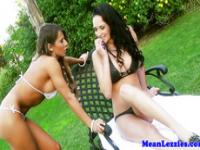 Angry lesbian outdoorsex with Madison Ivy