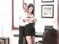 Big tits Valentina getting fucked by dude in a hardcore action at  the office