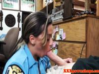 Realsex busty cop fucks and sucks for cash