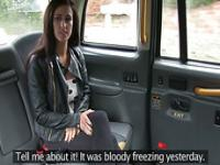 Brunette Jordanna gets tricked by the driver into fuck
