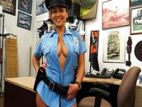 Sexy and busty police officer sells her firearm gets Shawns firearm