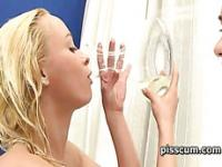 Naomi and Victoria Sweet sharing tasty piss