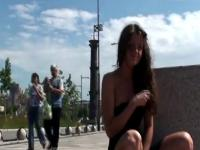 Alena posing naked outside